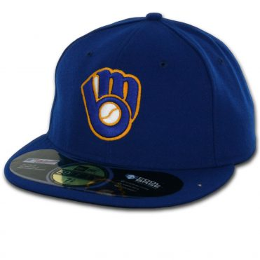 New Era 59Fifty Milwaukee Brewers Alternate Authentic On Field Fitted Hat
