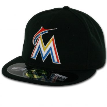 New Era 59Fifty Miami Marlins 2016 Home Authentic On Field Fitted Hat