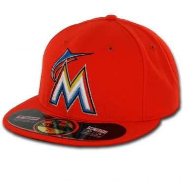 New Era 59Fifty Miami Marlins 2016 Road Authentic On Field Fitted Hat