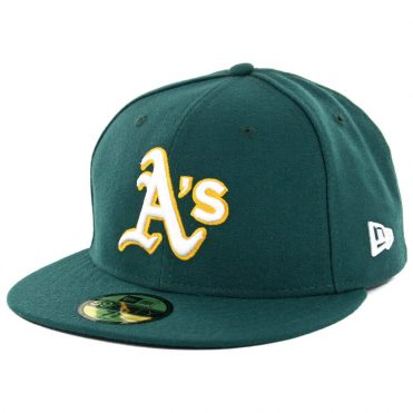 New Era 59Fifty Oakland Athletics Road Authentic On Field Fitted Hat