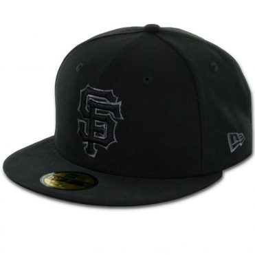 New Era 59Fifty San Francisco Giants Fitted Black, Black, Grey Hat