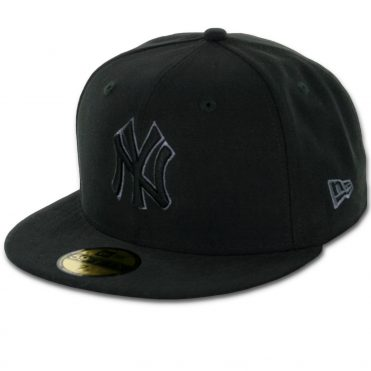 New Era 59Fifty New York Yankees Fitted Black, Black, Grey Hat