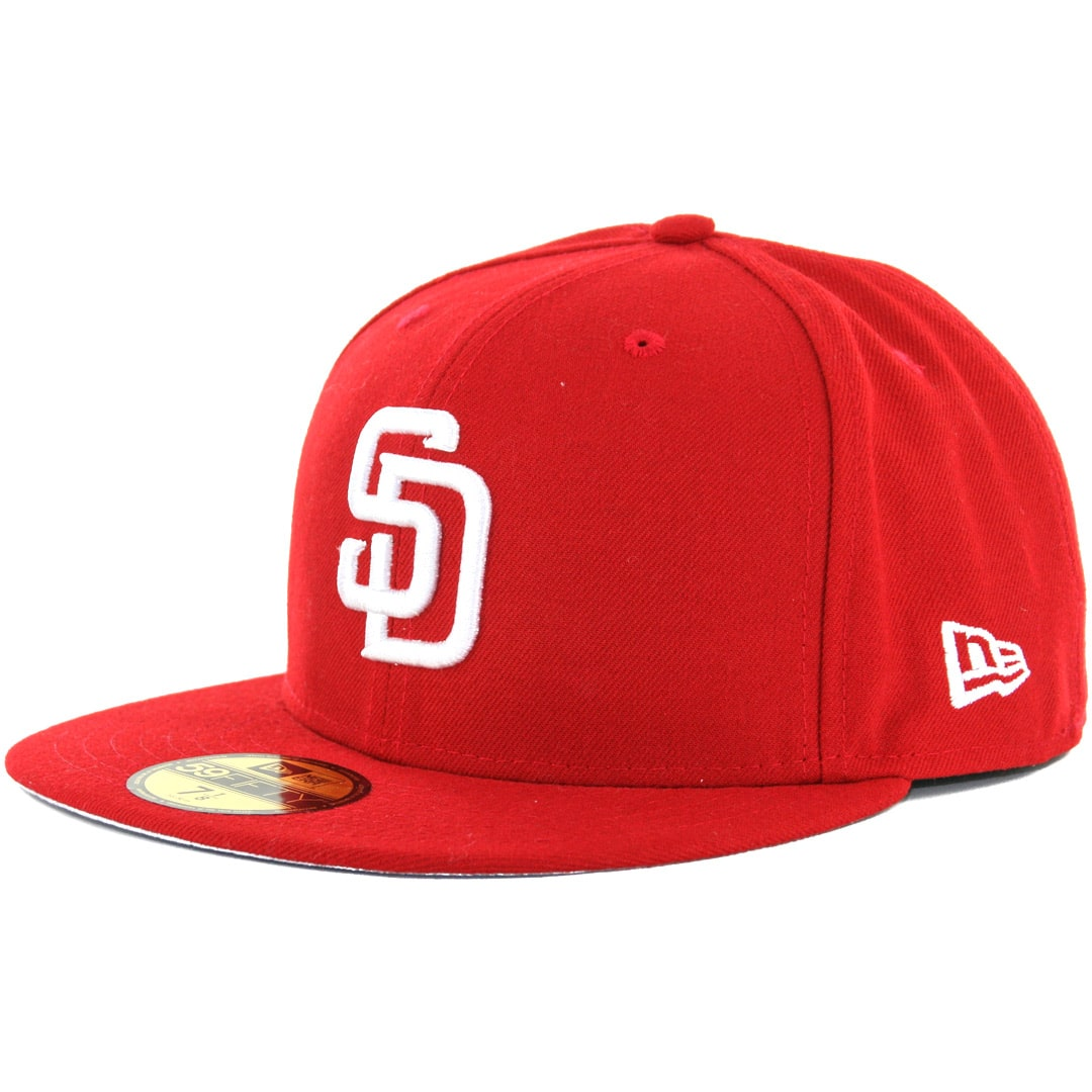 detailed look 145ee 24db3 ... new arrivals new era 59fifty san diego padres fitted scarlet red white  hat billion creation streetwear ...