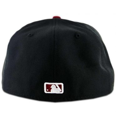 New Era 59Fifty San Diego Padres 2 Tone Fitted Black, White-Cardinal Red Hat