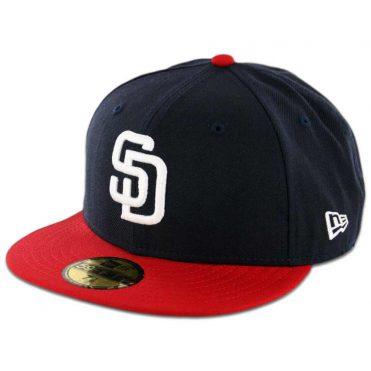 New Era 59Fifty San Diego Padres 2 Tone Fitted Dark Navy, White-Scarlet Red Hat