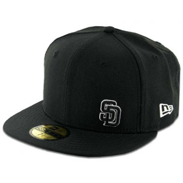 New Era 59Fifty San Diego Padres Flawless Fitted Black, Black, White Hat