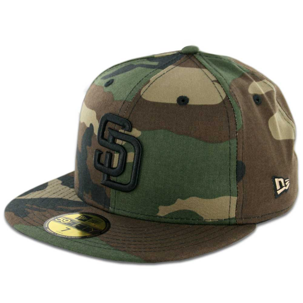 new era 59fifty san diego padres fitted hat woodland camo. Black Bedroom Furniture Sets. Home Design Ideas