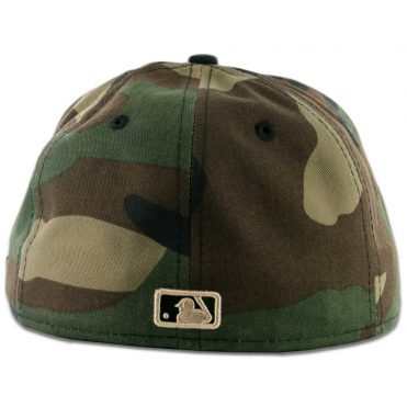New Era 59Fifty San Diego Padres Fitted Hat Woodland Camo, Black