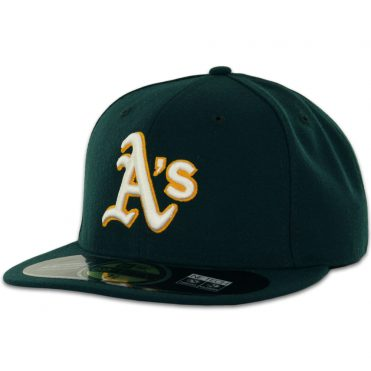 New Era 59Fifty Oakland Athletics 2016 Road Authentic On Field Fitted Hat