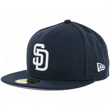 New Era 59Fifty San Diego Padres Fitted Hat Dark Navy, White