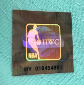 New Era NBA Hardwood Classics Holographic Sticker