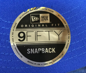 New Era 9FIFTY Sizing Sticker