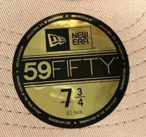 New Era 59FIFTY Sizing Sticker