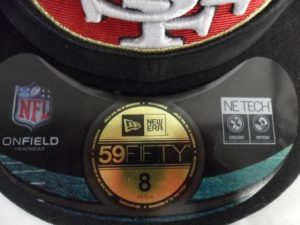 New Era NFL On Field Black Sticker