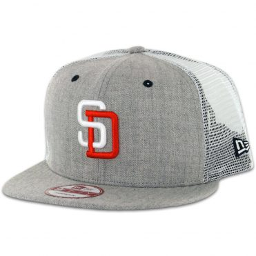 New Era 9Fifty San Diego Padres Tony Gwynn Heather Grey Trucker Snapback Hat