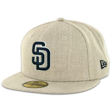 New Era 59Fifty San Diego Padres Fitted Hat Oatmeal Heather