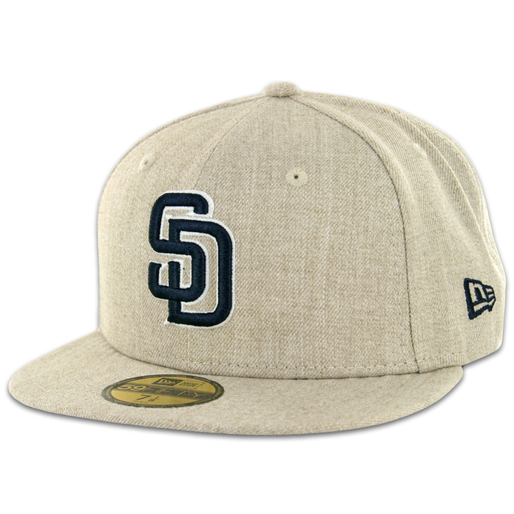 New Era 59Fifty San Diego Padres Fitted Hat Oatmeal Heather - Billion  Creation Streetwear baa77ab573a