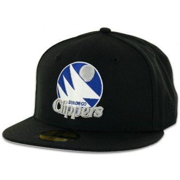 New Era 59Fifty San Diego Clippers Black, Silver, Royal Blue Fitted Hat