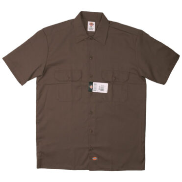 Dickies 1574 Short Sleeve Dark Brown Work Shirt