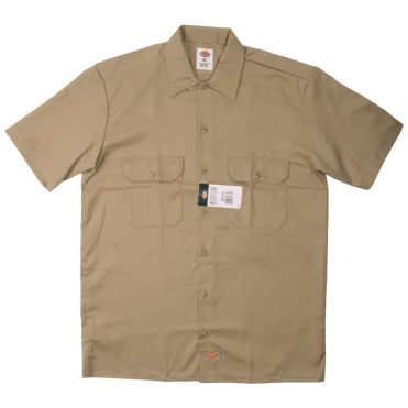 Dickies 1574 Short Sleeve Khaki Work Shirt