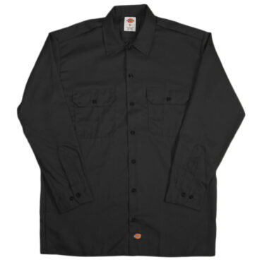 Dickies 574 Long Sleeve Black Work Shirt