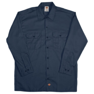Dickies 574 Long Sleeve Dark Navy Work Shirt
