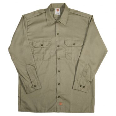 Dickies 574 Long Sleeve Khaki Work Shirt