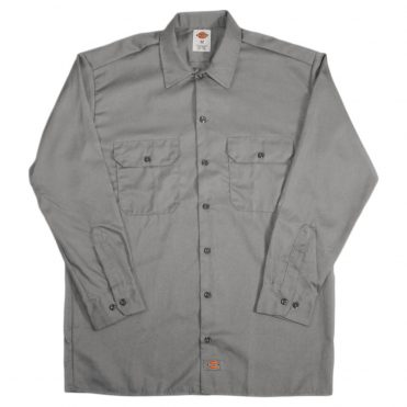 Dickies 574 Long Sleeve Silver Gray Work Shirt