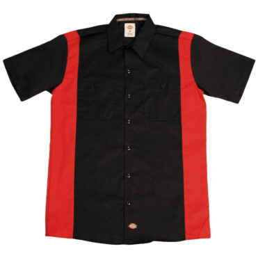 Dickies WS508 Two-Tone Short Sleeve Black/English Red Work Shirt