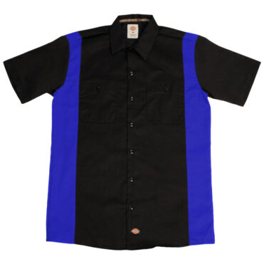 Dickies WS508 Two-Tone Short Sleeve Black/Royal Blue Work Shirt