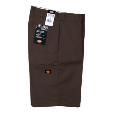 "Dickies 42283 13"" Loose Fit Multi-Use Pocket Dark Brown Work Short"
