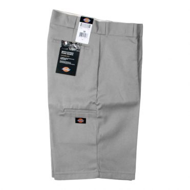 "Dickies 42283 13"" Loose Fit Multi-Use Pocket Silver Gray Work Short"
