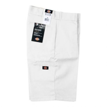 "Dickies 42283 13"" Loose Fit Multi-Use Pocket White Work Short"