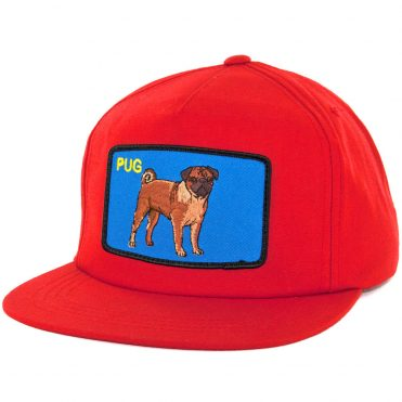 Dog Limited Pug Red Snapback Hat