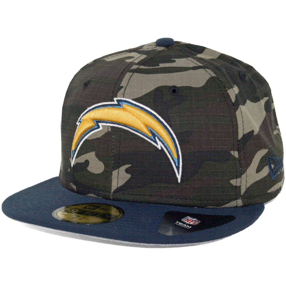 New Era 59fifty San Diego Chargers Rip Right Fitted Hat