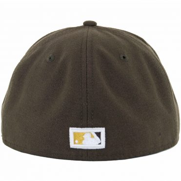 New Era 59Fifty San Diego Padres Fitted Hat Cooperstown Dark Brown, Gold
