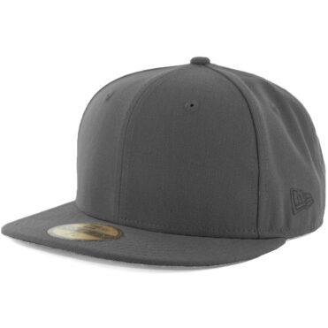 New Era Blanks 59FIFTY Plain Blank Fitted Hat Graphite Tonal
