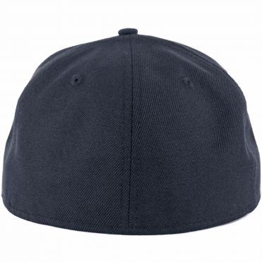 New Era Blanks 59FIFTY Plain Blank Fitted Hat Dark Navy Tonal