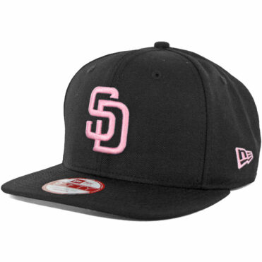 New Era 9Fifty San Diego Padres Black, Pink Snapback Hat