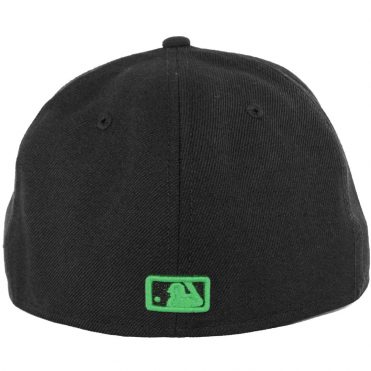 New Era 59Fifty San Diego Padres Fitted Hat, Black, Black, Kelly Green