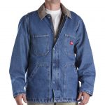 Dickies 77293 Denim Chore Coat Stonewashed Indigo Blue