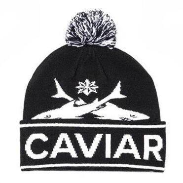 Caviar Cartel Sharks Pom Beanie, Black