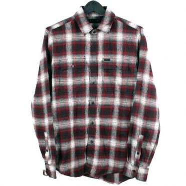 KR3W Ambush Flannel Shirt, Black/Red