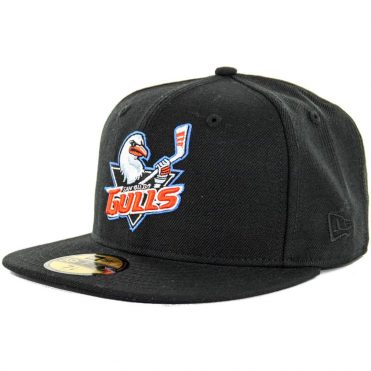 New Era 59Fifty San Diego Gulls Hat  Fitted Cap, Black
