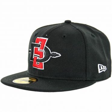 New Era 59Fifty San Diego State Aztecs Fitted Hat, Black