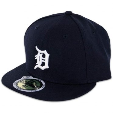 New Era 59Fifty Detroit Tigers Home Youth Authentic On Field Fitted Hat