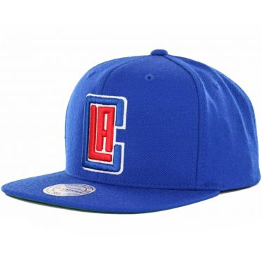 Mitchell & Ness Los Angeles Clippers Current Wool Solid Snapback Hat, Royal Blue