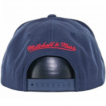 Mitchell & Ness New York Red Bulls Team Solid Snapback Hat, Dark Navy
