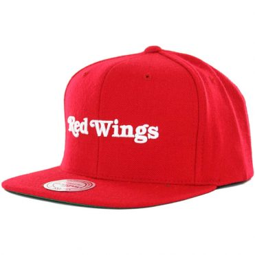 Mitchell & Ness Detroit Red Wings Wool Solid 2 Snapback Hat, Red