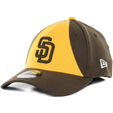 New Era 39Thirty San Diego Padres Alternate 2 Team Classic Stretch Fit Hat, Brown